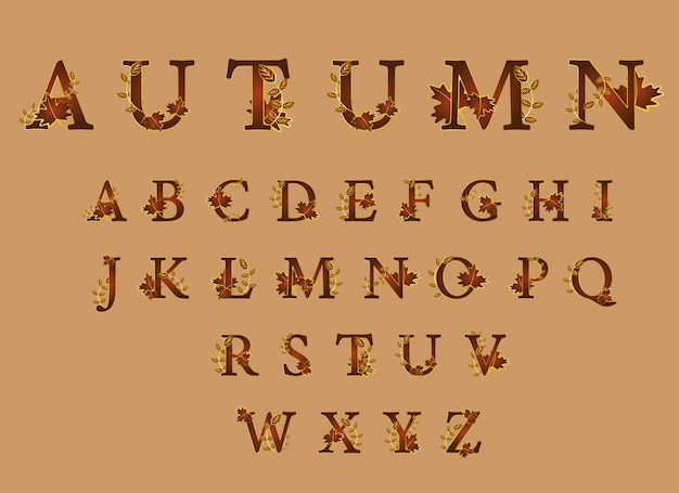 Очаровательный шрифт для осенних сезонов