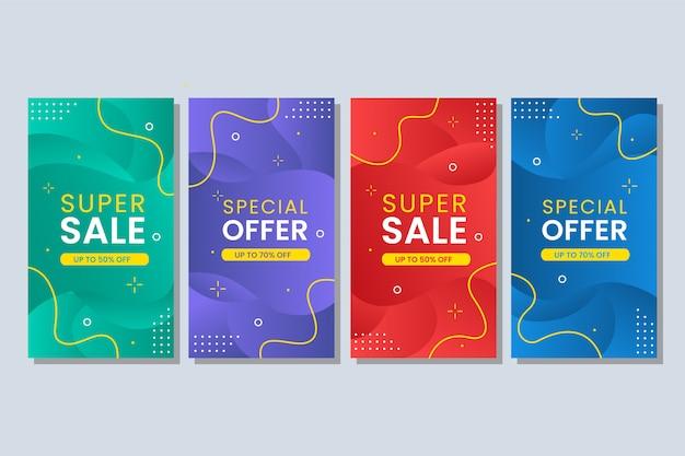 Красочный жидкий абстрактный баннер продажи