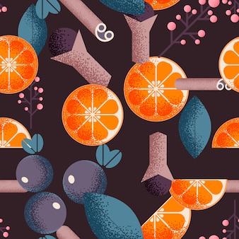 オレンジのシームレスパターン