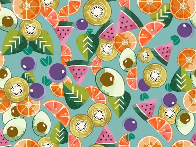 食品のシームレスパターン