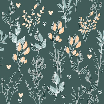 植物のシームレスパターン