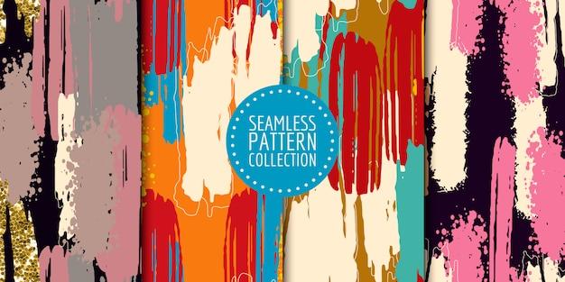 抽象的な形のシームレスパターンコレクション
