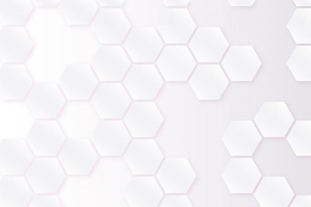 六角形の白い背景