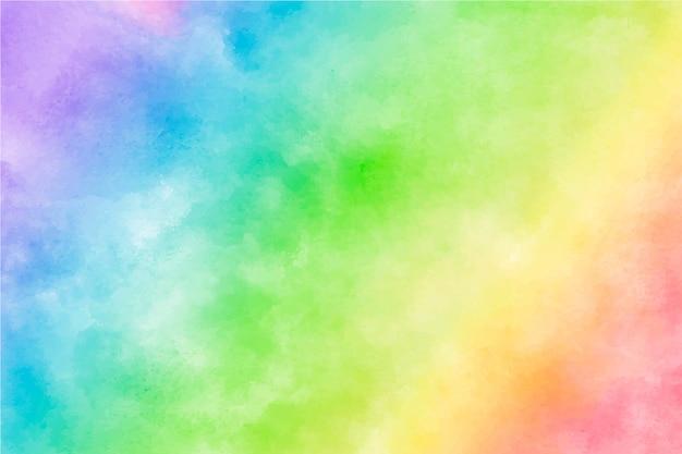 カラフルな水彩虹の背景