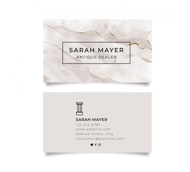 Мраморная визитка