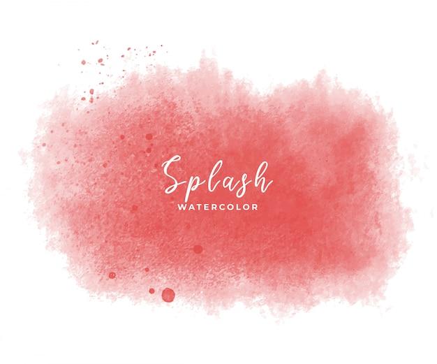 赤い水彩スプラッシュと滴