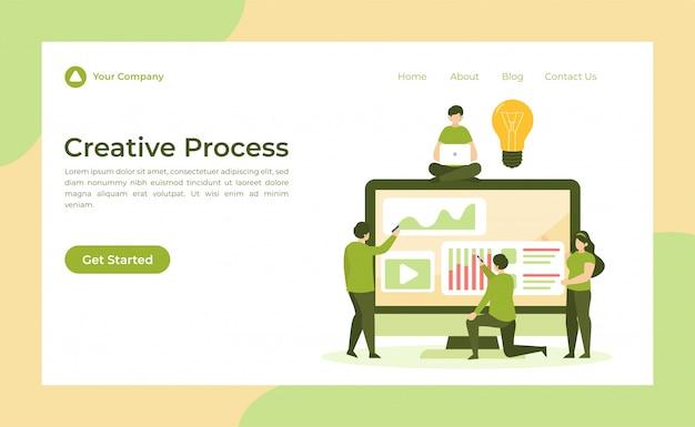 クリエイティブプロセスのリンク先ページ