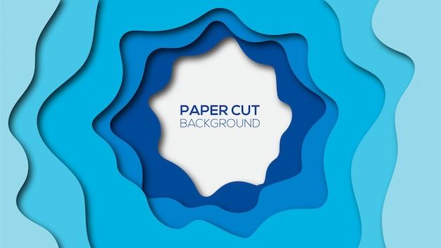 抽象的な紙カットの背景