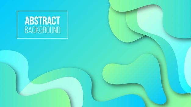 抽象的な液体形状のグラデーションの背景