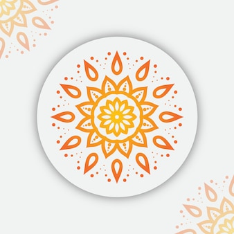 Мандала фон с красочными градиентом арабески