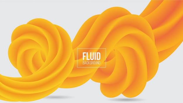 抽象的な黄色の流体の背景