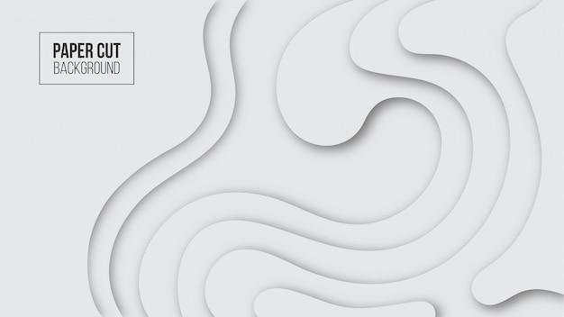 抽象的な現代的なホワイトペーパーカットの背景