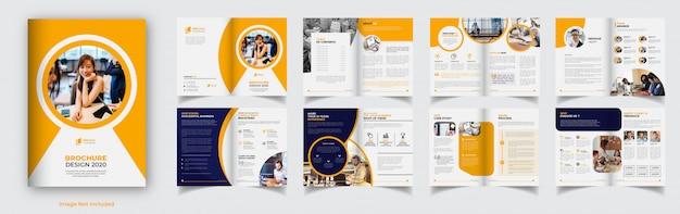 Корпоративный бизнес шаблон брошюры