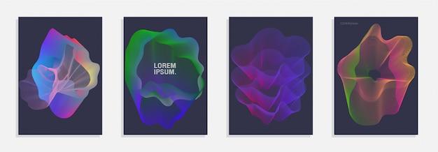 抽象的な背景が抽象的なグラデーション線形波で設定。