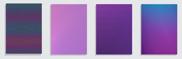 カラフルなハーフトーングラデーション。将来の幾何学的な垂直背景セット。