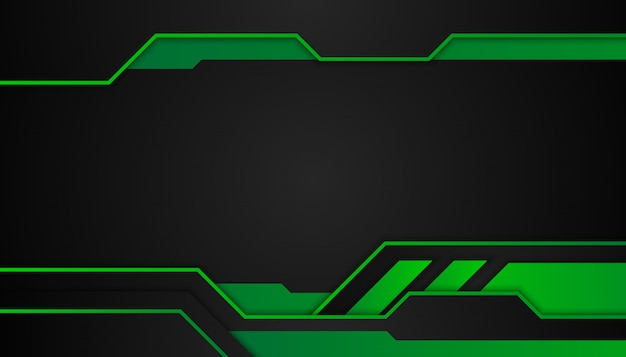 Абстрактные зеленые геометрические фигуры на темном фоне