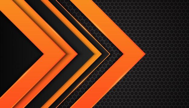 Абстрактные оранжевые геометрические фигуры на темном фоне