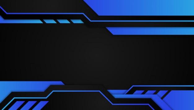 Абстрактная голубая геометрическая форма на темной предпосылке спорта