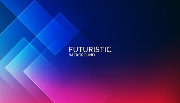 抽象的なブルーの幾何学的形状の未来的な背景