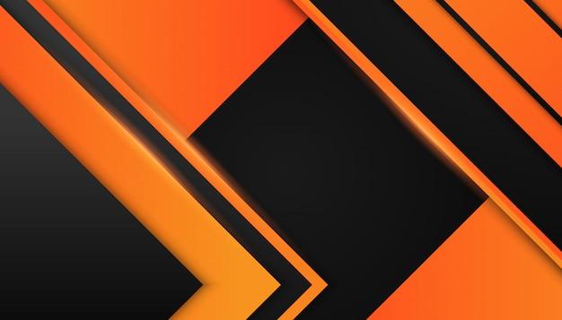 暗い背景に抽象的なオレンジ色の幾何学的図形