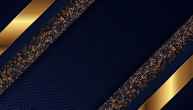 Роскошный темно-синий фон со светящимися золотыми точками