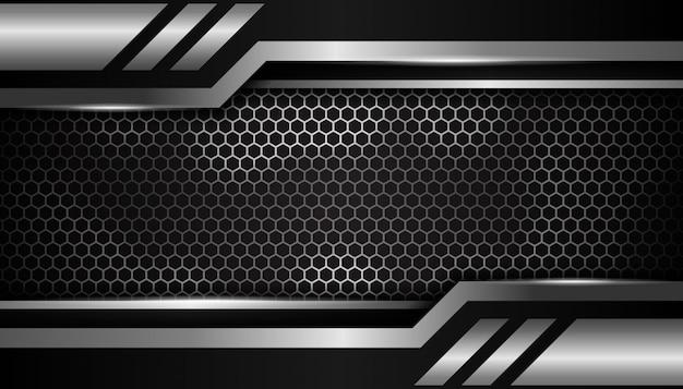 Роскошный серебряный шестиугольник спортивный фон