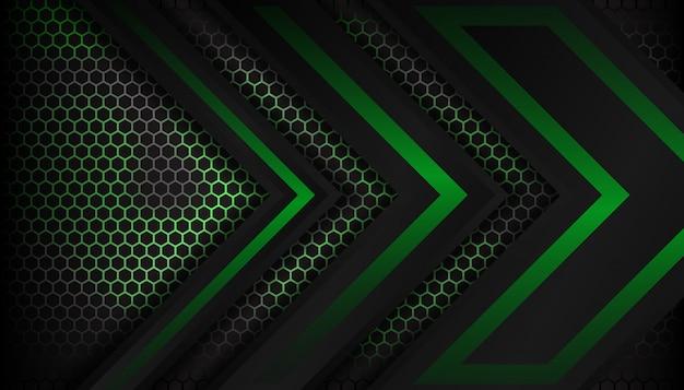 抽象的な緑の豪華な六角形の背景デザイン