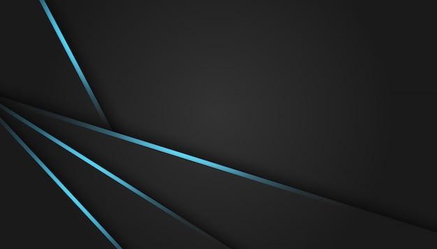 暗い高級背景に抽象的な青い光