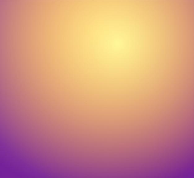 オレンジ、イエロー、ゴールド、紫色のぼかしグラデーションスタジオルーム