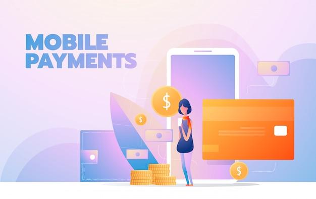 Онлайн покупки. современный плоский дизайн концепции иллюстрации
