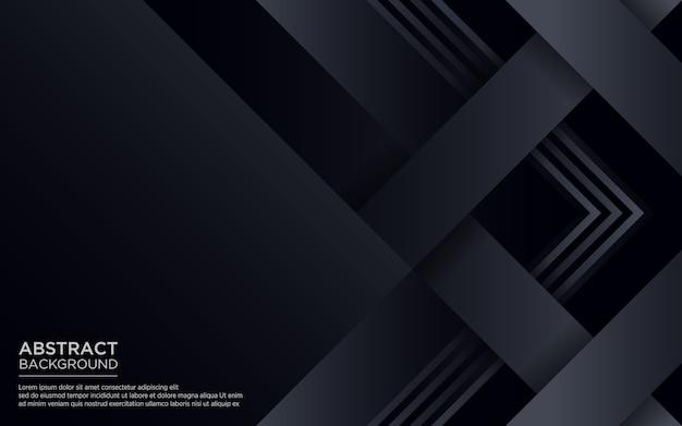 幾何学的形状と抽象的な黒の背景