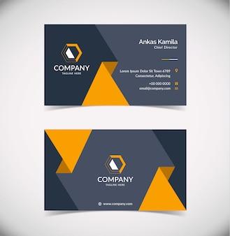 Современный шаблон визитной карточки с геометрической формой