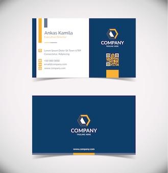 Простой и современный темно-синий шаблон визитной карточки