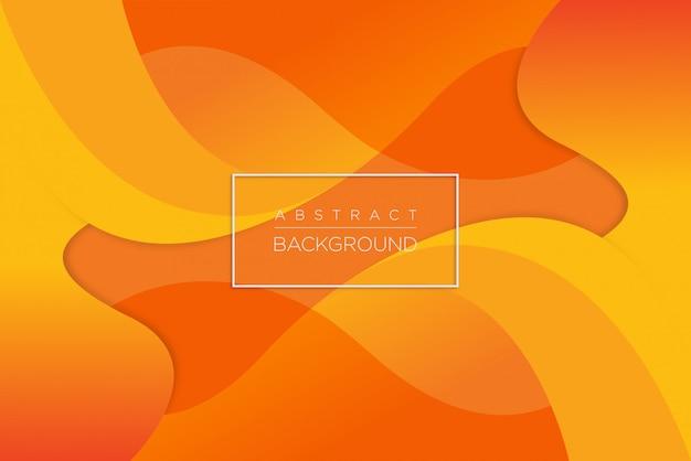 抽象的な動的オレンジ波背景