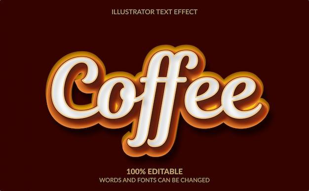 Редактируемый текстовый эффект, коричневый кофейный текстовый стиль