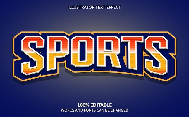 Редактируемый текстовый эффект, современный спортивный текстовый стиль
