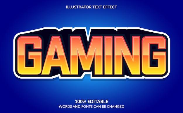 Редактируемый текстовый эффект, стиль игрового текста