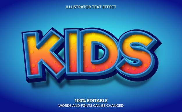 Редактируемый текстовый эффект, детский текстовый стиль