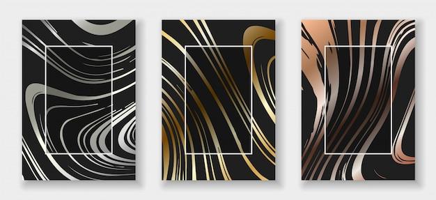 抽象的な形のカードセット