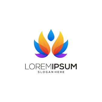 Лотос логотип значок йоги