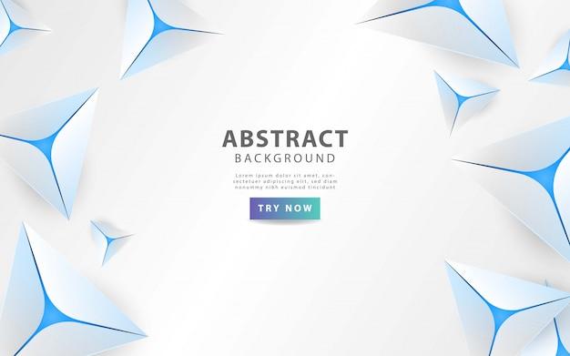 青い線とモダンなグレーの抽象的な三角形の背景