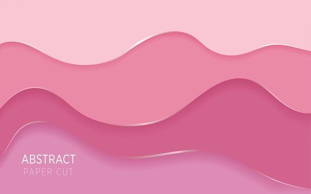 ピンクの抽象的な紙カットスライムの背景