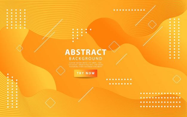 オレンジ色の抽象的な液体波状の背景