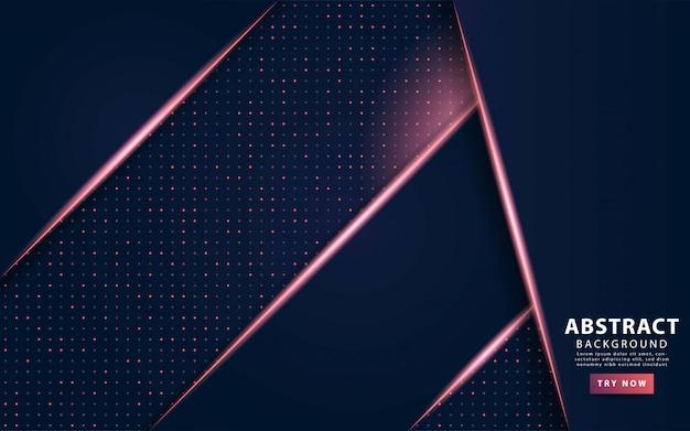 紫色の線でモダンな暗い青色の抽象的な背景。