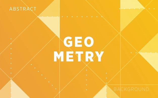 Абстрактный желтый фон формы геометрии с линией и точками.