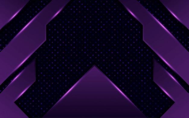 点と線でモダンな抽象的な暗い紫色のけいれん背景デザイン