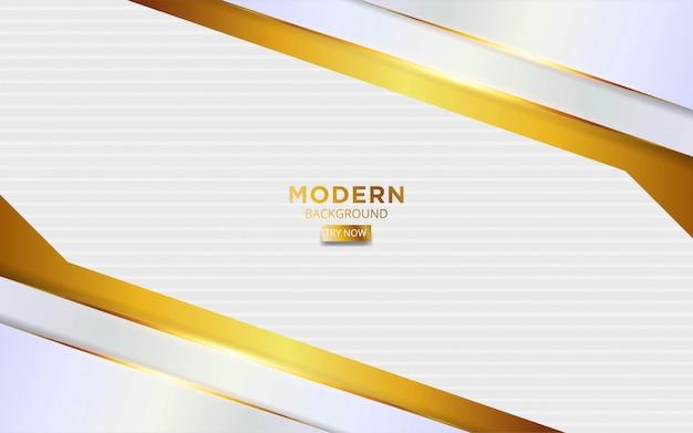 金色の線でモダンな白と神のけいれん背景
