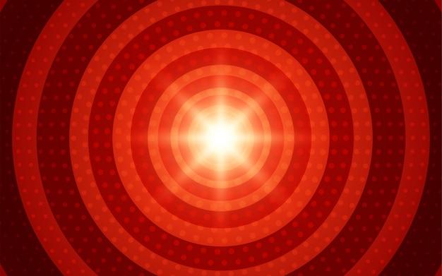 Абстрактный круг градиент красный геометрический фон формы