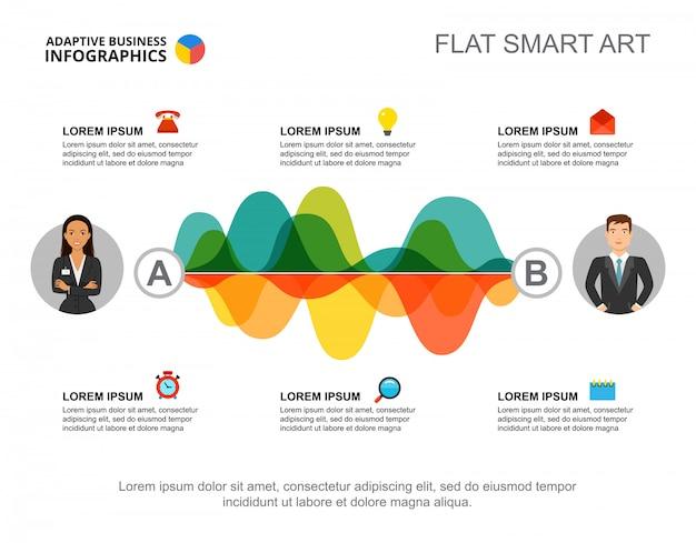 Шесть шаблонов диаграммы процессов для презентации