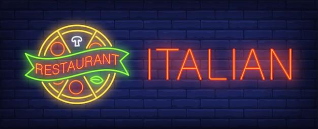 Итальянский ресторан неоновый знак
